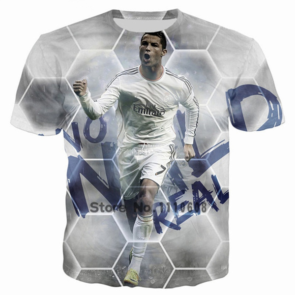new product dce74 d3c25 2018 Fashion Cristiano Ronaldo CR 3D Print Kids T Shirt Men Women  Streetwear Printed Tops