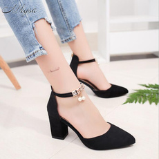 710fe607a Single Shoes for Work New Arrival OL Thick Heel Women Pointed Toe ...