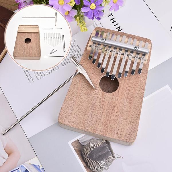 Homemade 10-tone DIY Kalimba Thumb Piano (Plywood)