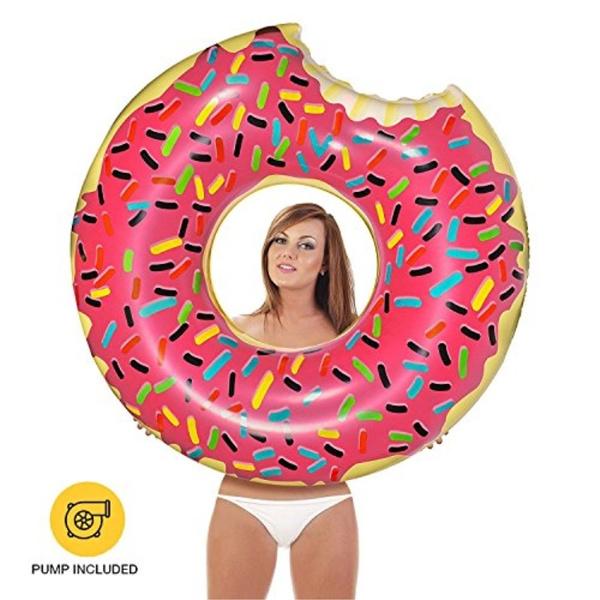 Surprising Inflatables Giant Pool Floats Pump Included Donut Giant Inzonedesignstudio Interior Chair Design Inzonedesignstudiocom