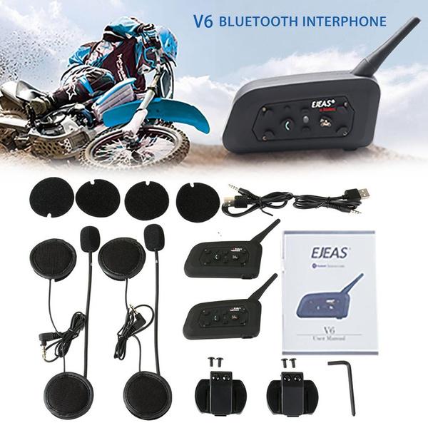 963e6a139d6 2018 Fodsports 2 pcs V6 Pro Motorcycle Helmet Bluetooth Headset Intercom 6  Riders 1200M Wireless Intercomunicador BT Interphone | Wish