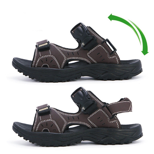 Plus Size New Men Fashion Men Sandals Leather Sandals Men S Shoes Breathing Magic Shoes Slipper Wish