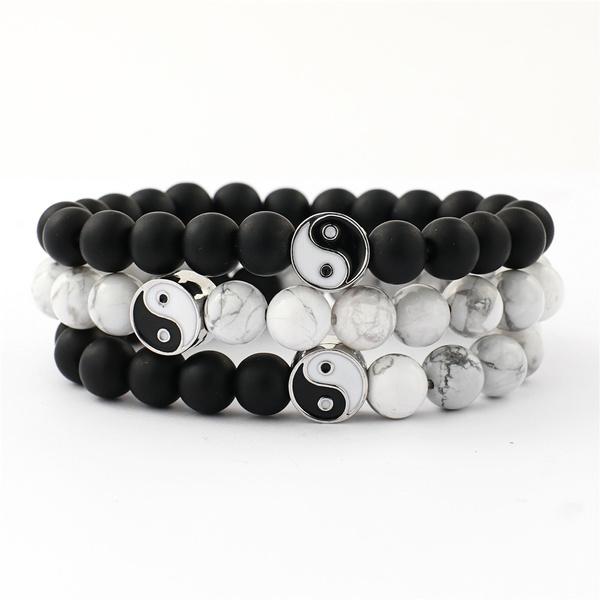 Natural Stone White And Black Yin Yang