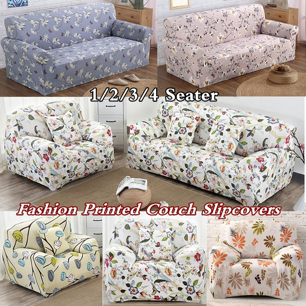 Miraculous Fashion Printed L Shape Recliner Protector Couch Cushion Slipcovers Sofa Cover 1 2 3 4 Seats Spandex Stretch Elastic Soft Furniture Cover Set 12 Color Pabps2019 Chair Design Images Pabps2019Com