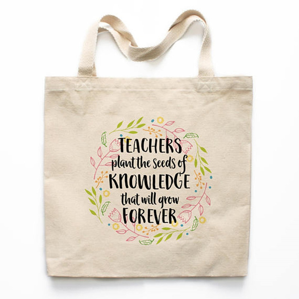 Teacher Gift Tote Bag Canvas