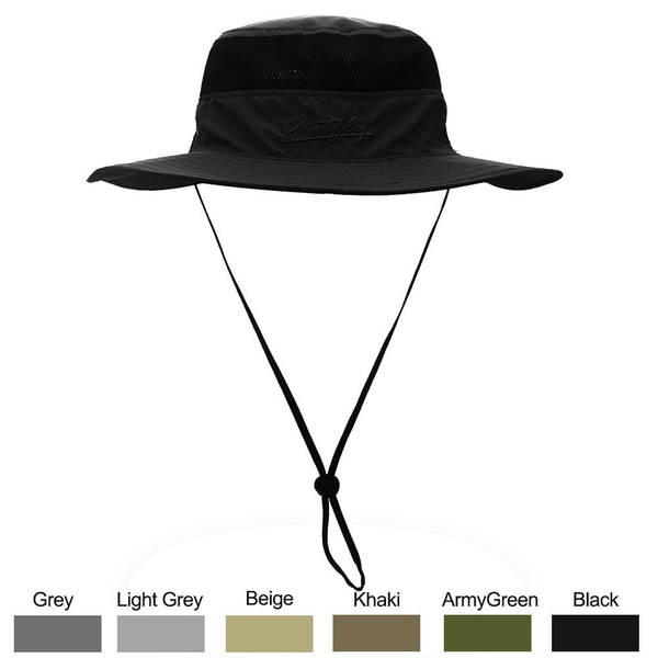 dd1a3227 WELKOOM Sun Hat for Men & Women, Wide Brim UPF 50+ UV Protection Beach  Cap, Breathable Outdoor Boonie Hats with Adjustable Drawstring Design, ...