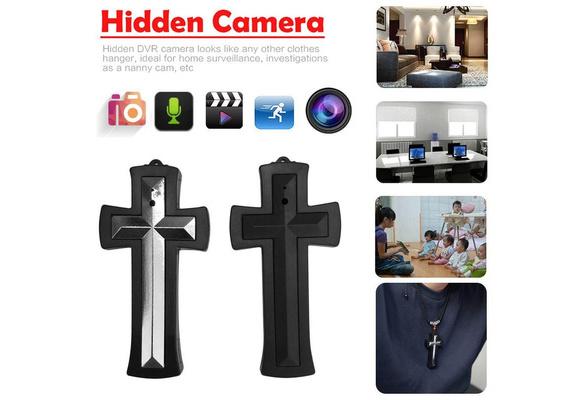 8GB Cross Pendant Necklace Hidden Mini DVR Camera Cam Video Audio Recorder.