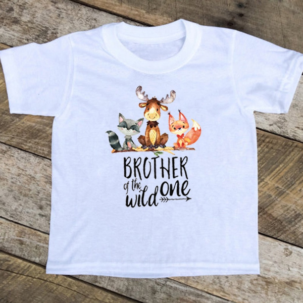 Fox Birthday Shirt Brother Of The Boy Woodland Wild One