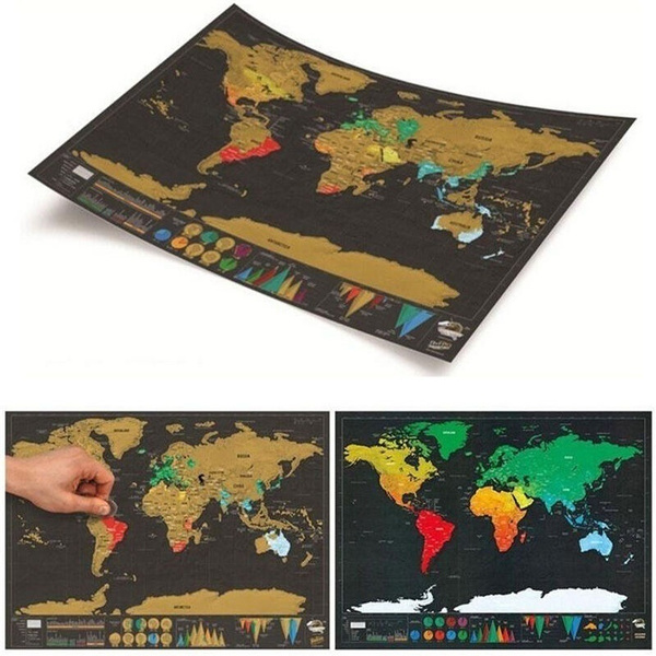 Wish travel edition scratch off world map poster personalized wish travel edition scratch off world map poster personalized journal map scratch mark paintings gumiabroncs Images