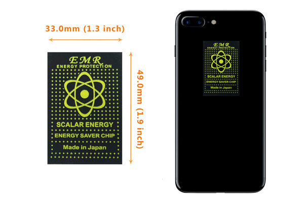 Anti Radiation Shield EMF Protection EMF Absorption From CELL PHONE, WiFi,  Laptop-slim sticker