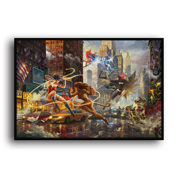 Batman Wonder Woman Of Dc Canvas Print Beauty Home Decor Living Room Bedroom Wall Art Fashion Oil Paintings