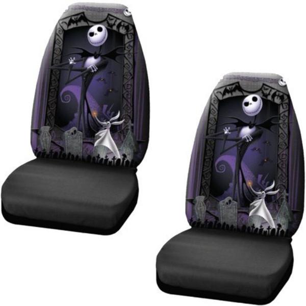 Incredible Nightmare Before Christmas Jack Skellington Graveyard Zombie Nbc Front Car Truck Suv Bucket Seat Covers Pair Disney Machost Co Dining Chair Design Ideas Machostcouk
