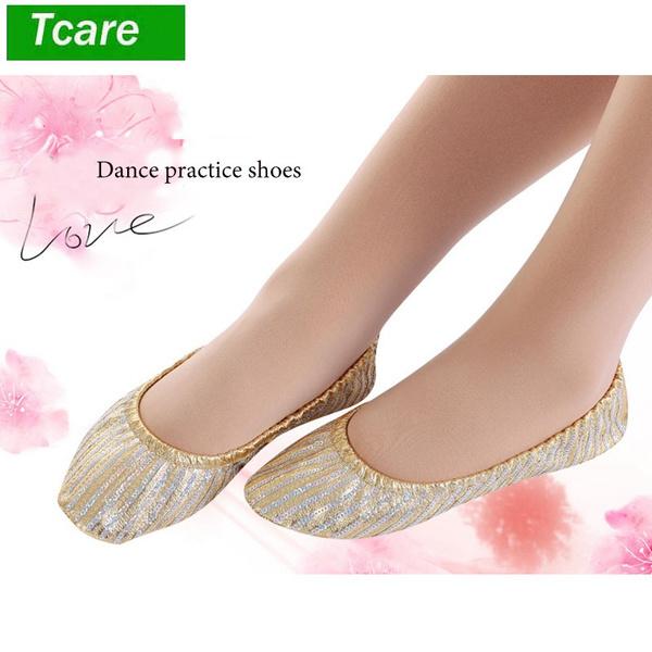 Belly Dance Shoes Women Girl Slipper Flat Ballet Gymnastics Dancing Shoes New