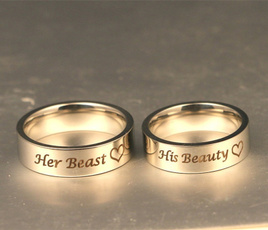 Couple Rings, Steel, Engagement, Women Ring