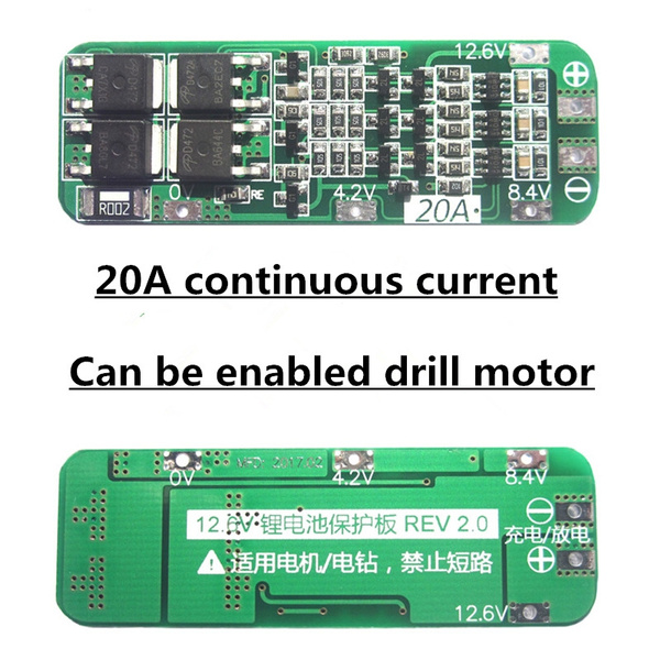 For Drill Motor 12.6v 18650 lithium batterie pcb bms protection board 3