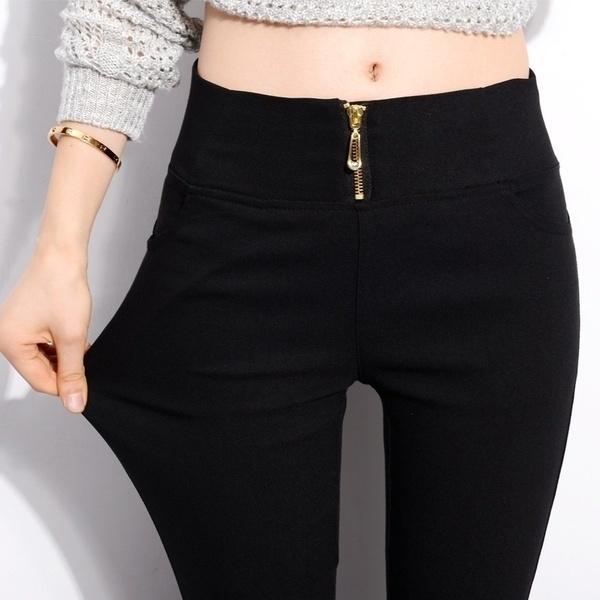 pencil, Plus Size, skinny pants, Elastic