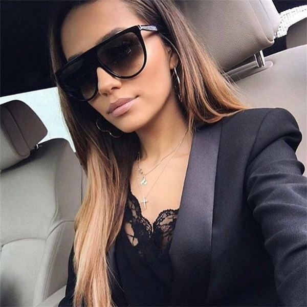 Molniya Oversized Square Sunglasses Women Designer Brand Big One Lens Mans Black Sun Glasses Female Uv400 Transparent Frame Wish