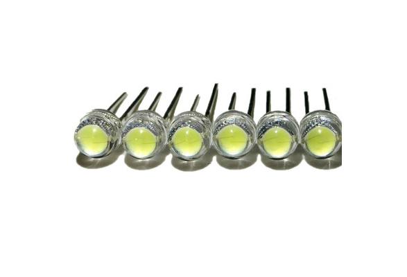 500pcs F5 5mm WHITE Straw Hat Superbright LED Light LED lamp NEW