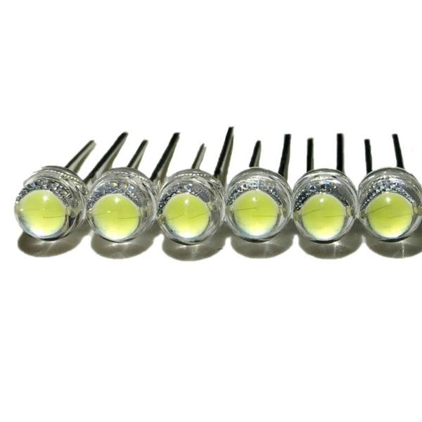 100pcs F5 5mm WHITE Straw Hat Superbright LED Light LED lamp NEW