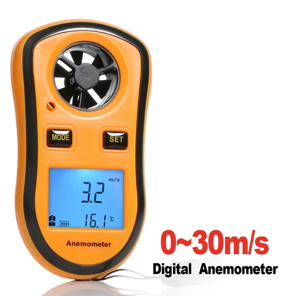 Handheld Digital LCD Wind Speed Meter Thermometer Anemometer Velocity Gauge GA#