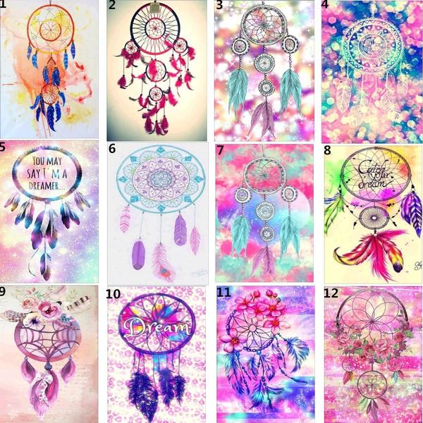DIY Dreamcatcher 5D Diamond Embroidery Painting Cross Stitch Crafts Home Decor