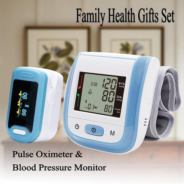 Yongrow YK-88+BPW1 Portable Fingertip Pulse Oximeter SpO2 and Digital Wrist  Blood Pressure Monitor Digital Family Health