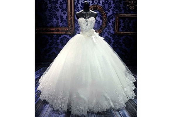New Fashion Sweetheart Lace Up New Fashion Silver Lined A Line Sweep Train Wedding Gown Slace Bridal Charming Button Lace Wedding Dress
