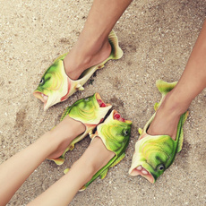 Slippers, funnygift, sandaliasfeminina, fish