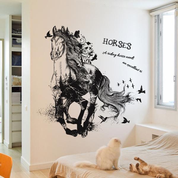 blackhorsewallsticker, homedecorsticker, Decor, Home Decor