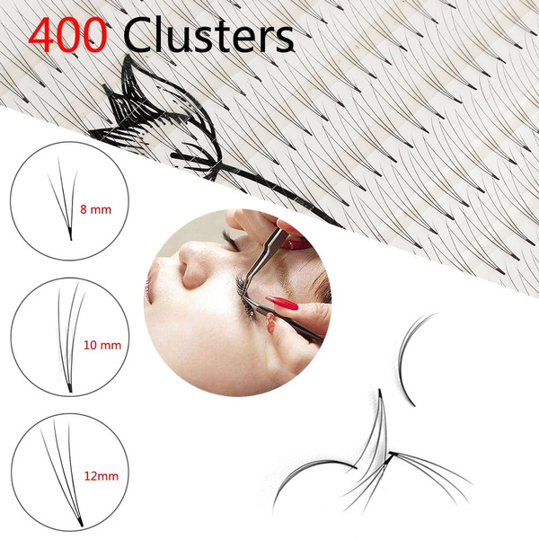 47db51a9277 SKONHED Professional 10 Lines 400 Clusters 3D Individual Mink Hair ...