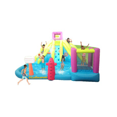 water, Inflatable, obstaclecourseaquaticparkplaybounce, pool