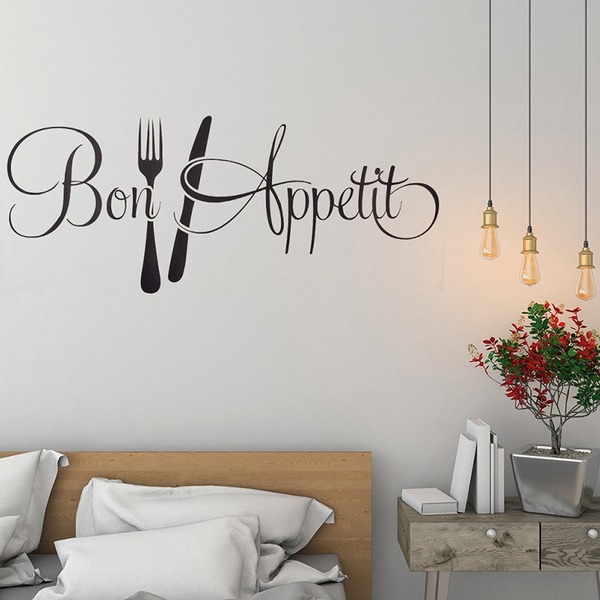Bon E Kitchen Wall Sticker Vinyl Removable Decal Dining Room Decor Nt