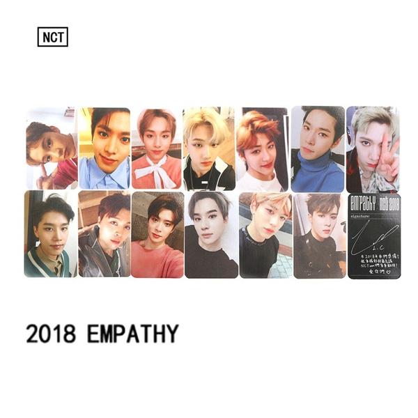 2 Pcs KPOP NCT U 127 2018 Empathy Album Paper Cards Taeyong Mark Self Made  Photocard Poster