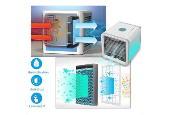 COOL Air Conditioner Fan Air Cooler Arctic Air Personal Space Cooler 3-IN-1 Cooler Humidifier Purifier