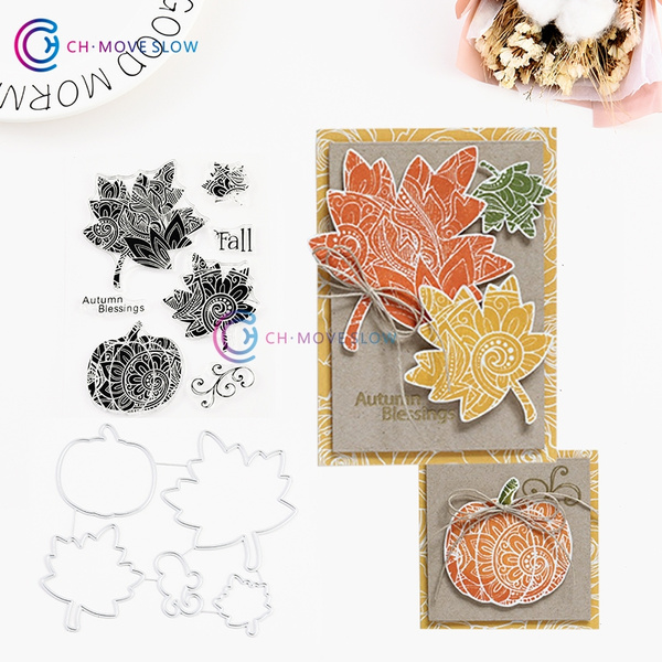 DIY Autumn Metal Cutting Dies Stencil Scrapbooking Album Paper Card Craft Decor
