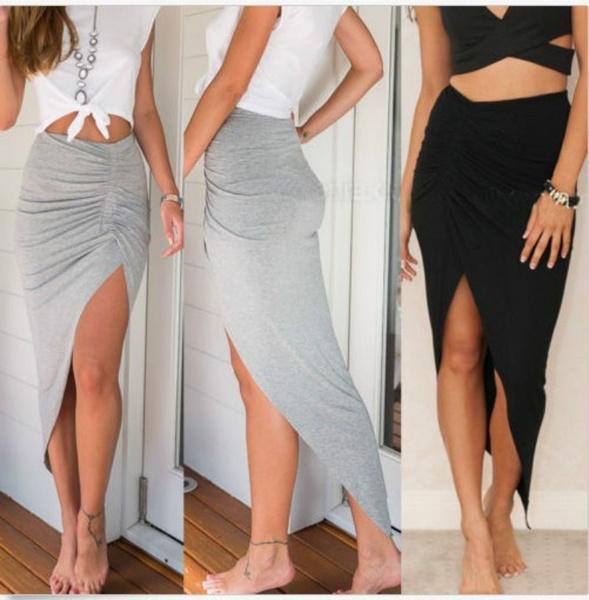 long skirt, Fashion, high waist, maxi skirt