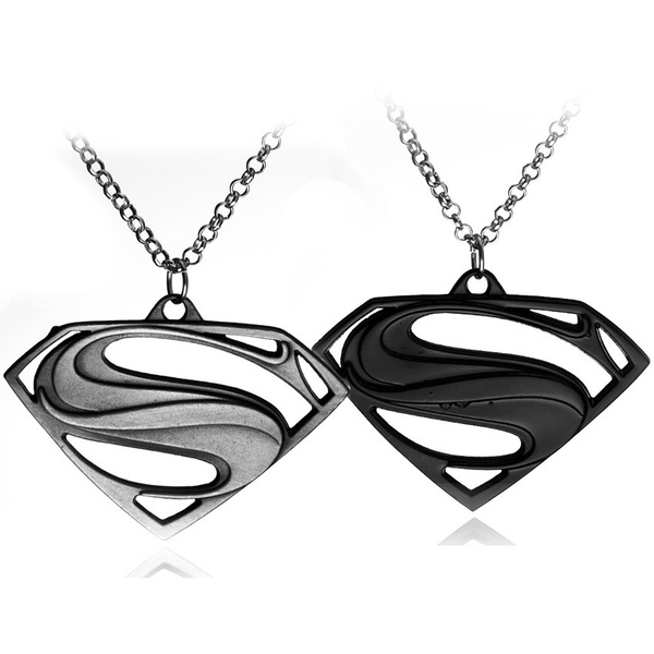 Wish European And American Movie Fashion Jewelry Superman Logo