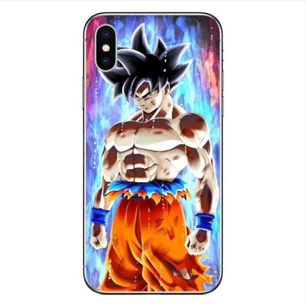 huge selection of a73df db2a3 Goku Kamehameha Super Saiyan Vegeta Dragon Ball Z Clear Cell Phone Case  Cover For iPhone 5 5s SE 5c 6 6s 7 7s 8 Plus X