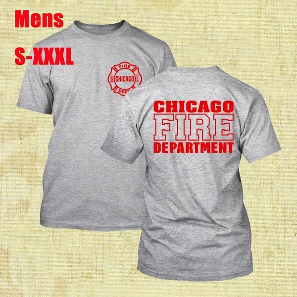 Fashion Chicago Fire Dept Logo Men S Classics T Shirt Wish