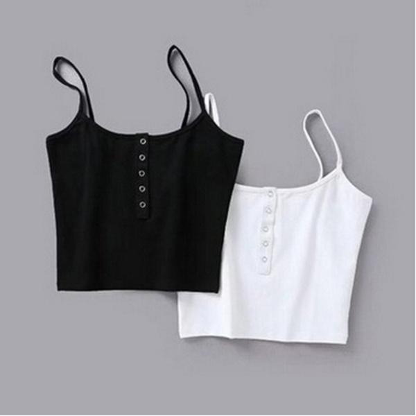 Vest, Fashion, women crop top, Buckles