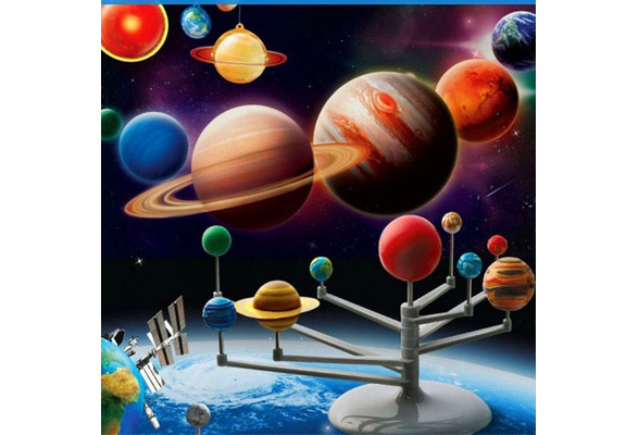 Kid/'s Educational Toy Explore Nine Planets in Solar System Teaching Toys Gift CP
