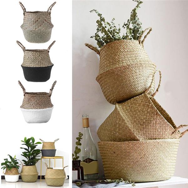gardenflowerpot, laundrybasket, Flowers, Laundry