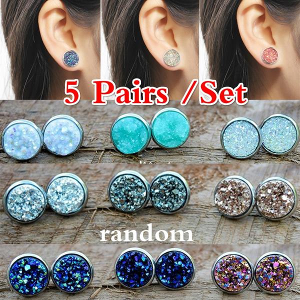 Jewelry, hypoallergenic, Stud Earring, Vintage