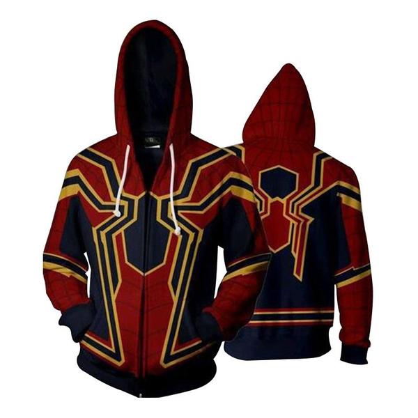 Avengers Infinity War Spiderman Coat Hoodie Iron spider Cosplay Costume clothes