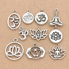 Antique, yogacharm, charms for pandora bracelets, antiquesilvercharm