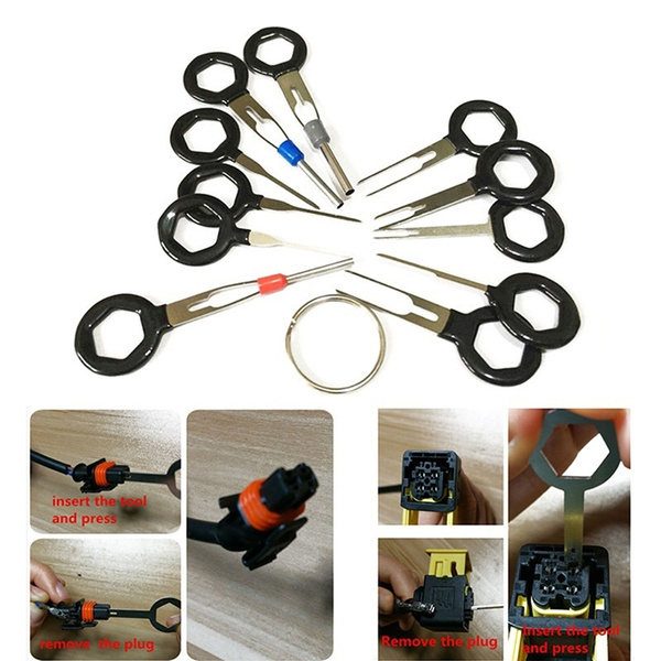 Car Terminal Removal Tool Wiring Plug Connector Extraction Puller Release Pin