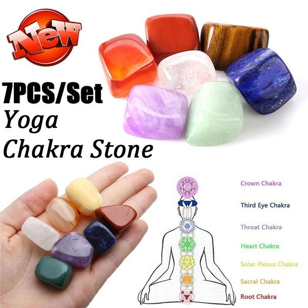 7PCS/Set Yoga Life Chakra Irregular Reiki Healing Crystals Stone Polished  Natural Tumbled Stones