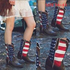 ankle boots, casual shoes, Plus Size, Cowboy