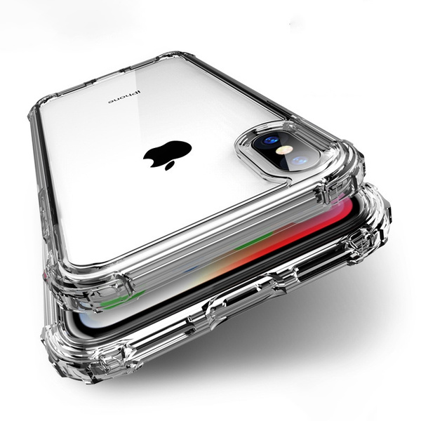 pretty nice 93d05 961e4 For Apple iPhone X 8 7 6 6s Plus Case Cover New Luxury TPU Transparent  Clear Shockproof Protective Cover