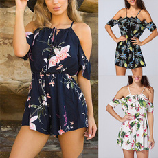Summer, Shorts, Rompers, Casual